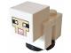 Part No: minesheep09  Name: Minecraft Sheep, Lamb, White Legs - Brick Built