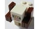 Part No: minesheep10  Name: Animal, Land Minecraft Sheep, White, Horns - Brick Built