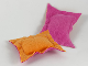 Part No: x23pb05  Name: Scala Cloth Pillow Small with Orange and Dark Pink Sides