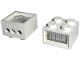 Part No: 08010bc01  Name: Electric, Light Brick 12V 2 x 2 with 3 Plug Holes, Trans-Clear Diffuser Lens