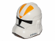 Part No: 11217pb03  Name: Minifigure, Headgear Helmet SW Clone Trooper with Bright Light Orange 212th Legion Pattern