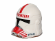 Part No: 11217pb05  Name: Minifigure, Headgear Helmet SW Clone Trooper with Red Shock Trooper Pattern