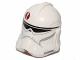 Part No: 11217pb10  Name: Minifigure, Headgear Helmet SW Clone Trooper with Dark Red Emblem Pattern