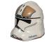 Part No: 11217pb13  Name: Minifigure, Headgear Helmet SW Clone Trooper with Gold Gunner Pattern