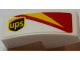 Part No: 11477pb047R  Name: Slope, Curved 2 x 1 with ups Logo and Red and Yellow Pattern Model Right Side (Sticker) - Set 75908