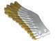 Part No: 11778pb02  Name: Eagle Wing - Left with Metallic Gold Feathers Pattern