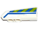 Part No: 11946pb015  Name: Technic, Panel Fairing #21 Very Small Smooth, Side B with Blue Line and Blue and Lime Danger Stripes Pattern (Sticker) - Set 42047