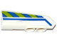 Part No: 11947pb015  Name: Technic, Panel Fairing #22 Very Small Smooth, Side A with Blue Line and Blue and Lime Danger Stripes Pattern (Sticker) - Set 42047