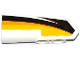 Part No: 11947pb018  Name: Technic, Panel Fairing #22 Very Small Smooth, Side A with Yellow, Orange and White Stripes on Black Background Pattern (Sticker) - Set 42044