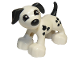 Part No: 1396pb03  Name: Duplo Dog Large Paws with Black Ears and Tail and Spots
