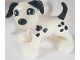 Part No: 1396pb05  Name: Duplo Dog Large Paws with Black Ears and Tail and Spots, Looking Right