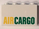 Part No: 14718pb006  Name: Panel 1 x 4 x 2 with Side Supports - Hollow Studs with Yellow and Green 'AIRCARGO' Pattern (Sticker) - Set 60101
