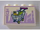 Part No: 14718pb021  Name: Panel 1 x 4 x 2 with Side Supports - Hollow Studs with Shopping Cart and Lavender Skyline in Background Pattern