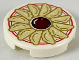 Part No: 14769pb252  Name: Tile, Round 2 x 2 with Bottom Stud Holder with Chinese Dumplings and Sauce on Plate with Red Border Pattern