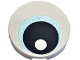 Part No: 14769pb264  Name: Tile, Round 2 x 2 with Bottom Stud Holder with Eye with Medium Blue Iris and Black Pupil Pattern
