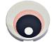 Part No: 14769pb265  Name: Tile, Round 2 x 2 with Bottom Stud Holder with Eye with Medium Dark Flesh Iris and Black Pupil Pattern