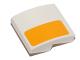 Part No: 15068pb015L  Name: Slope, Curved 2 x 2 with Bright Light Orange Stripe Pattern Model Left Side (Sticker) - Set 75053