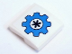 Part No: 15068pb148  Name: Slope, Curved 2 x 2 with Dark Azure Gear with Dark Blue Flower Pattern (Sticker) - Set 41346