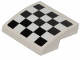 Part No: 15068pb160  Name: Slope, Curved 2 x 2 with Checkered Pattern (Sticker) - Set 31094