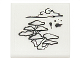 Part No: 15210pb001  Name: Road Sign Clip-On 2 x 2 Square Open O Clip with Bonsai Tree, Cloud and Inkblots Pattern (Sticker) - Set 70751