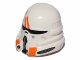 Part No: 15308pb01  Name: Minifigure, Headgear Helmet SW Airborne Clone Trooper with Orange Markings Pattern