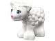 Part No: 15695pb02  Name: Lamb with Dark Azure Eyes, Dark Pink Nose and Black Eyelashes Pattern