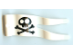 Part No: 15793pb02  Name: Duplo Flag Wavy 2 x 5 without Slits with Black Skull and Crossbones Pattern