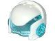 Part No: 19023c01  Name: Minifigure, Headgear Helmet Space with Trans-Light Blue Visor and Ear Protectors