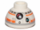 Part No: 20952pb03  Name: Brick, Round 1 1/2 x 1 1/2 x 2/3 Dome Top with SW BB-8 Droid Head, Large Photoreceptor Pattern
