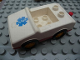 Part No: 2235pb03  Name: Duplo Car with 1 x 2 Studs with Red Base and EMT Star of Life Pattern