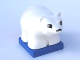 Part No: 2334c02pb03  Name: Duplo Bear Polar Cub on Blue Base, Squared Eyes