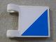 Part No: 2335pb027  Name: Flag 2 x 2 Square with SpongeBob Blue and White Diagonal Halves Pattern (Sticker)