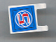 Part No: 2335pb047  Name: Flag 2 x 2 Square with Red Number 5 on Blue Background with White Basketball Pattern (Sticker) - Set 3432