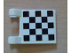 Part No: 2335pb077  Name: Flag 2 x 2 Square with Checkered Pattern on One Side, Black Corners (Sticker)