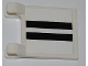 Part No: 2335pb082  Name: Flag 2 x 2 Square with 2 Black Lines on White Background Pattern (Sticker) - Set 8198