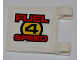 Part No: 2335pb083  Name: Flag 2 x 2 Square with 'FUEL 4 SPEED' on White Background Pattern on Both Sides (Stickers) - Set 8126