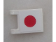 Part No: 2335pb088  Name: Flag 2 x 2 Square with Japan Flag Pattern on One Side (Sticker) - Set 8679