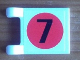 Part No: 2335pb091  Name: Flag 2 x 2 Square with Number 7 in Japan Flag Pattern on Both Sides  (Stickers) - Set 8679