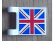 Part No: 2335pb093  Name: Flag 2 x 2 Square with United Kingdom Flag (Union Jack) Pattern on Both Sides (Stickers) - Set 8639