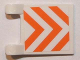 Part No: 2335pb112  Name: Flag 2 x 2 Square with Orange and White Danger Stripes Pattern (Sticker) - Set 7649