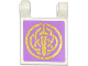 Part No: 2335pb121  Name: Flag 2 x 2 Square with Gold Sword and Celtic Knot on Medium Lavender Background Pattern (Sticker) - Set 41051