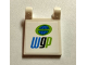 Part No: 2335pb138  Name: Flag 2 x 2 Square with 'wgp' World Grand Prix Logo Pattern (Sticker) - Set 8206