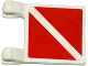 Part No: 2335pb146  Name: Flag 2 x 2 Square with 2 Red Triangles Pattern on Both Sides (Stickers) - Set 60095