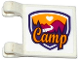 Part No: 2335pb151  Name: Flag 2 x 2 Square with Friends Camp Pattern to Right of Clips (Sticker) - Set 41122