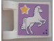 Part No: 2335pb169  Name: Flag 2 x 2 Square with Horse and Star on Lavender Background Pattern (Sticker) - Set 41057