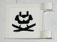 Part No: 2335pb198  Name: Flag 2 x 2 Square with Visor Chin Guard and Two Katanas Pattern on Both Sides (Stickers) - Set 70665