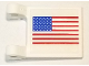 Part No: 2335pb214  Name: Flag 2 x 2 Square with United States Flag Pattern on Both Sides (Stickers) - Set 10029