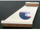 Part No: 2340pb020L  Name: Tail 4 x 1 x 3 with Dark Blue, Medium Blue and Red Wave Pattern on Left Side (Sticker) - Set 4642