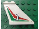 Part No: 2340pb028Lx  Name: Tail 4 x 1 x 3 with White Number 1 over Red and Green Pattern Left Side (Sticker)