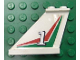 Part No: 2340pb028Rx  Name: Tail 4 x 1 x 3 with White Number 1 over Red and Green Pattern Right Side (Sticker)